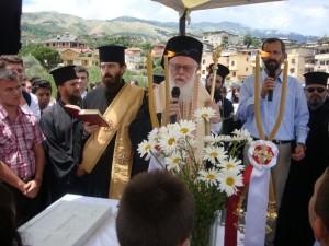 Εγκαίνια του σχολείο από τον Αρχιεπίσκοπο Αλβανίας κ.κ. Αναστάσιο.